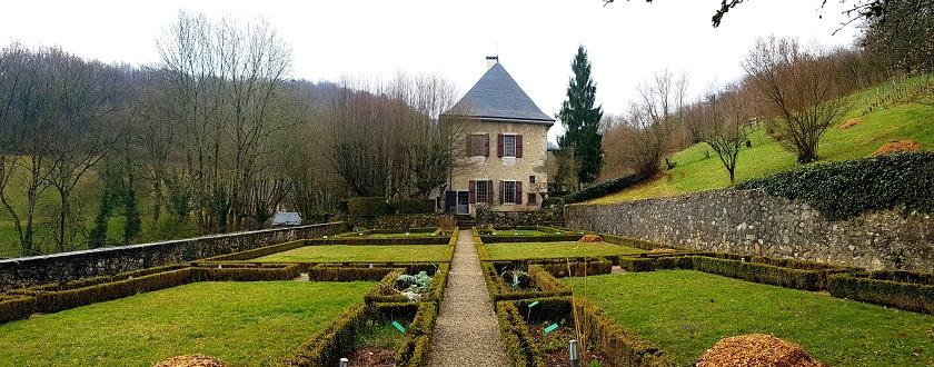 View across the gardens to Le Musée des Charmettes