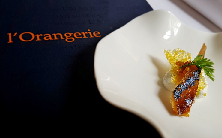 Hors d'oeuvre at l'Orangerie restaurant
