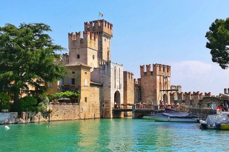 Scaliger Castle Italy on the waters edge