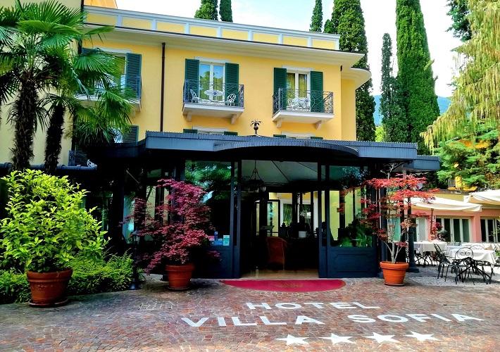 Hotel Villa Sofia main entrance