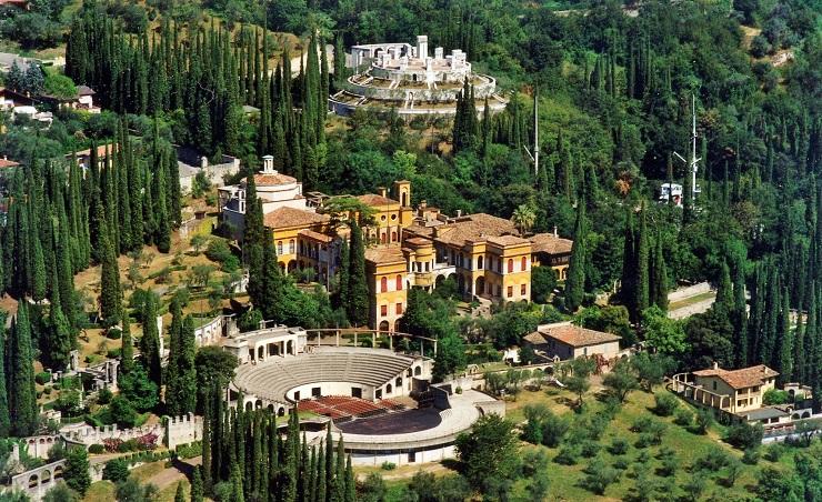 View above Vittoriale degliItaliani