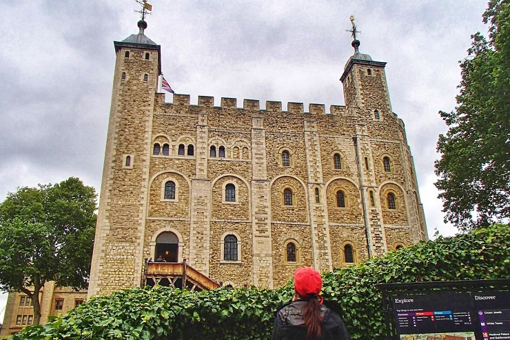 The White Tower inside Tower of London england uk