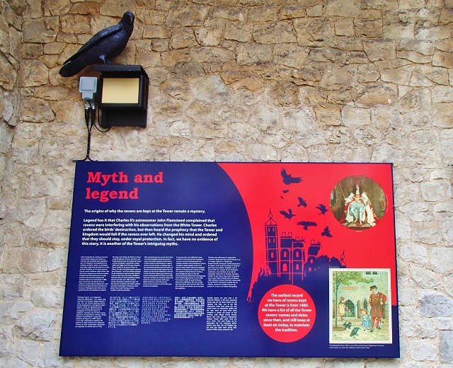 One of the many information boards in the Tower of London