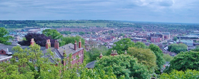 Panoramic view over Nottingham