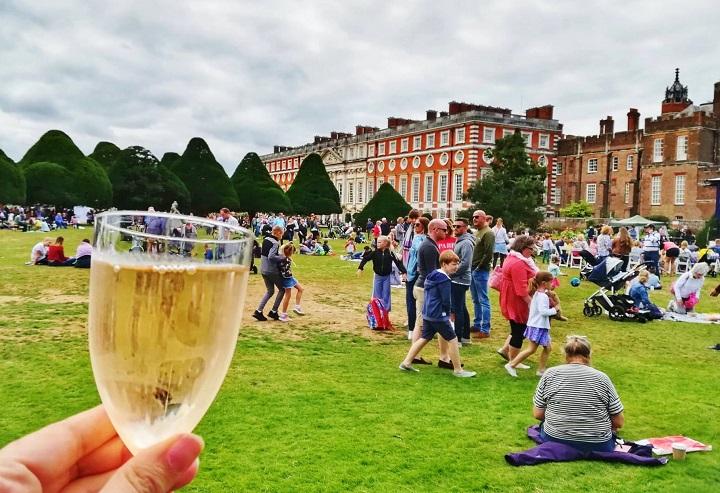 Wine at the Food Festival Hampton Court Palace England
