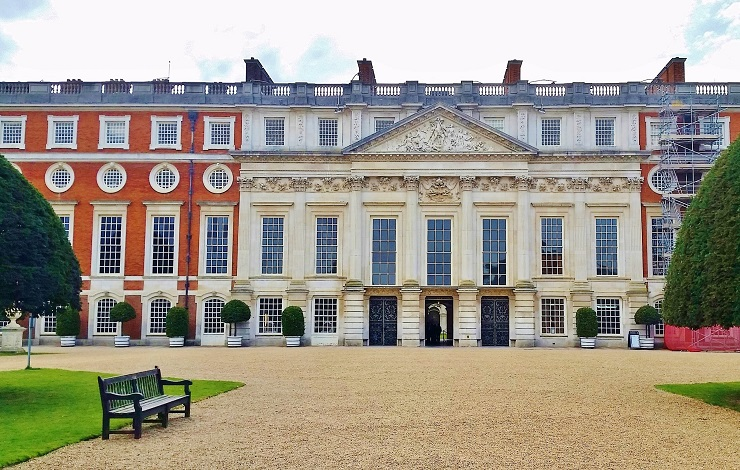 The Entrance to the Gardens Hampton Court Palace England
