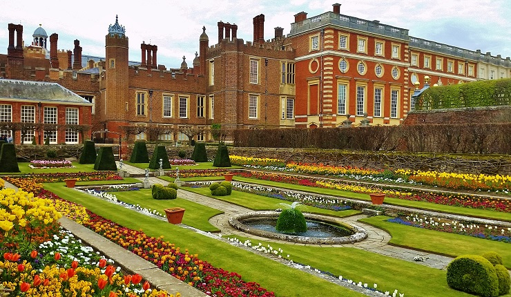The Knot Garden Hampton Court Palace England