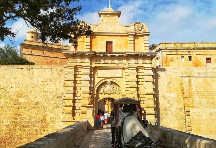 the enterance Mdina Malta