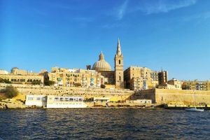 Cityscape of Valletta from the harbour