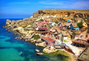 Overlooking Popeye village things to do in Malta & Gozo