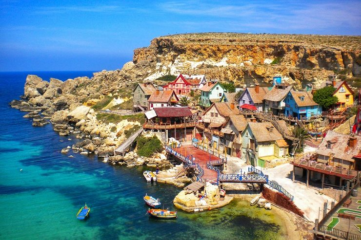 Overlooking Popeye village Malta