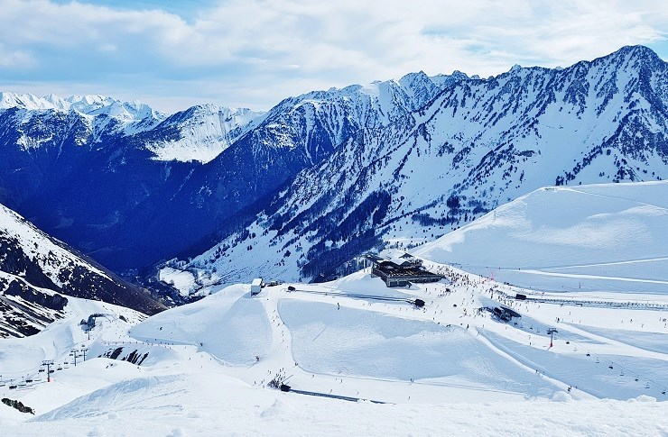 On top of Cauterets ski resort looking into the village below