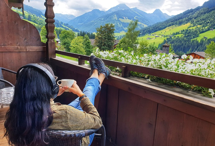 Enjoyig the views during summer in Alpbach Austria