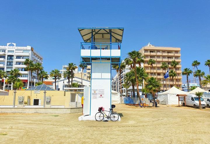 Finikoudes promenade Larnaka Cyprus