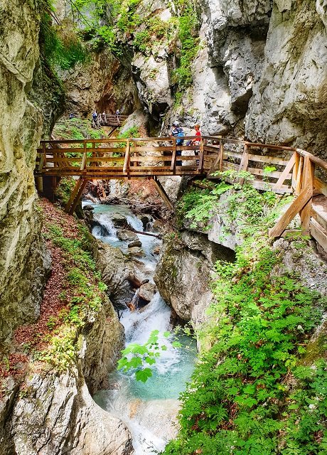 Hiking through the gorge Austria