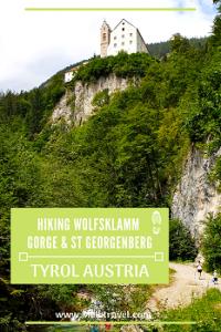 Hiking Wolfsklamm Gorge Tyrol Austria