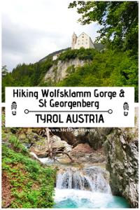 hiking St Wolfsklamm Tyrol Austria