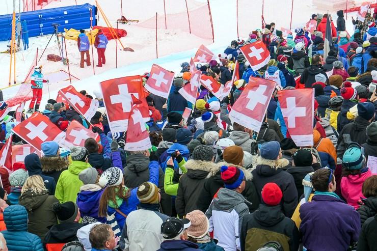 Lauberhorn Slalom Ski Race Wengen Switzerland