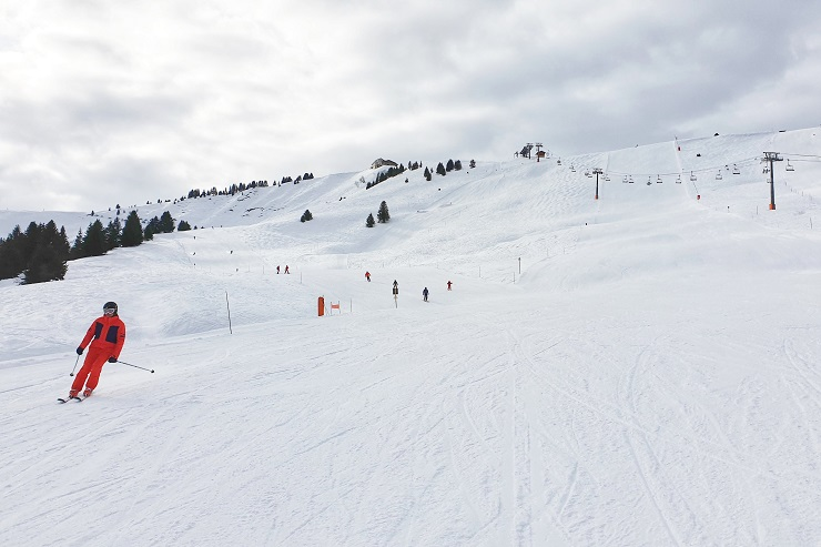 Ski area Saint-Nicolas and Saint Gervais Mont Blanc France