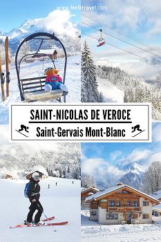 Skiing St Nicolas De Veroce Mont-Blanc France