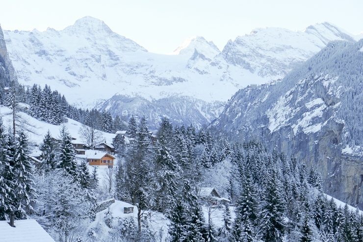 View from Wengen Switzerland