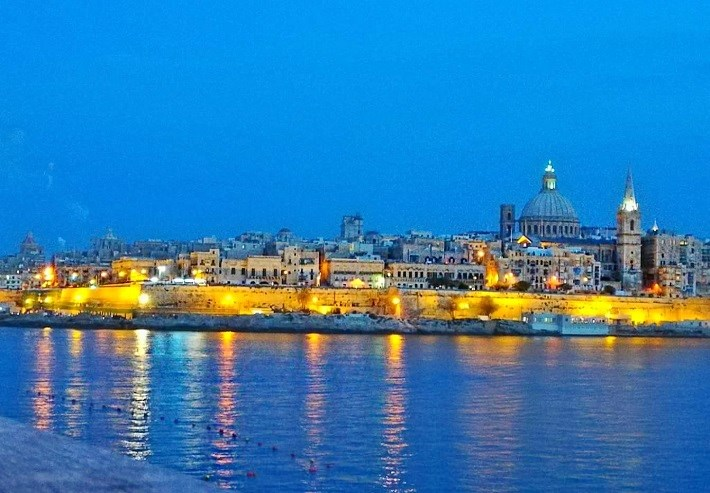 Valletta Malta at Night
