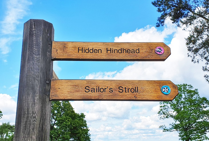 Sign Post Sailor's Stroll Devils Punch Bowl England
