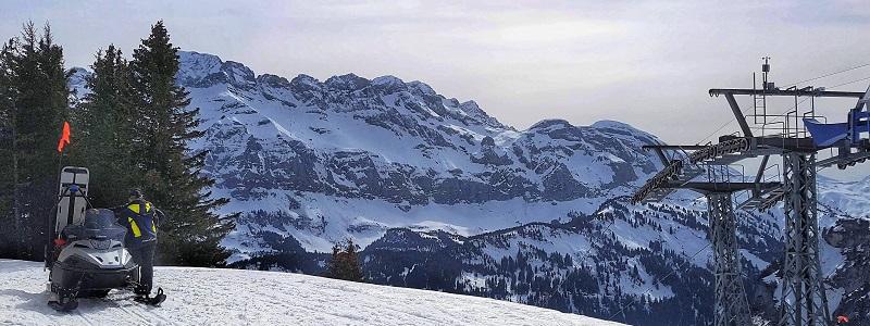 Winter skiing Champery Switzerland PDS