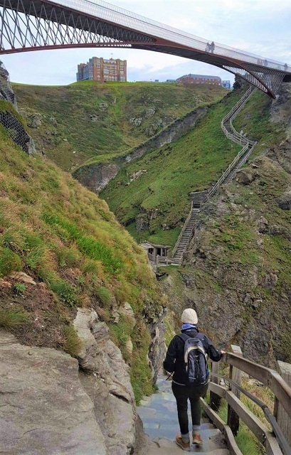 Consider the 140 Steep stairs before visiting Tintagel Castle Conrwall
