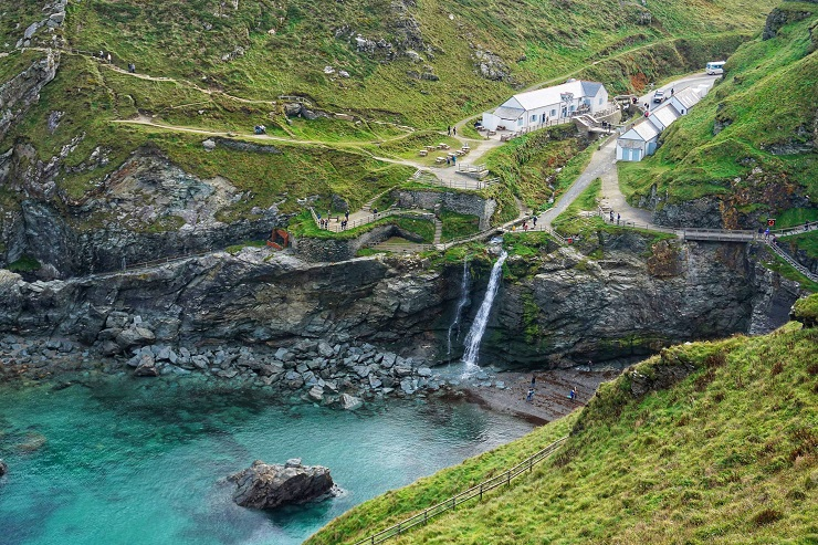 Visitors Center Tintagel Castle Cornwall History UK