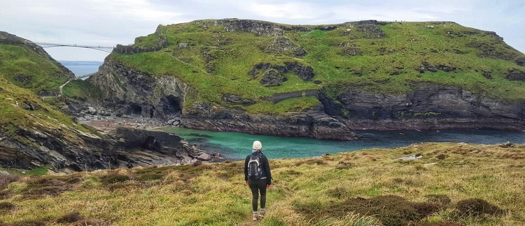 Hiking along the Cornish Coast Tintagel Cornwall England with my heart condition