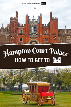 How to get to Hampton Court from London England UK