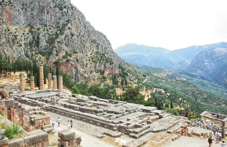 Temple of Apollo at Delphi Greece Europe History