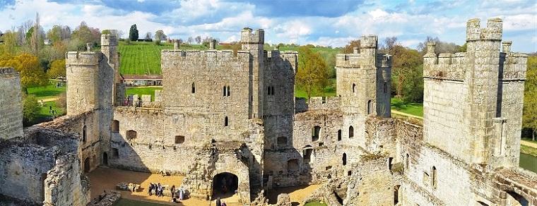 Inside Bodiam Castle Walls England History