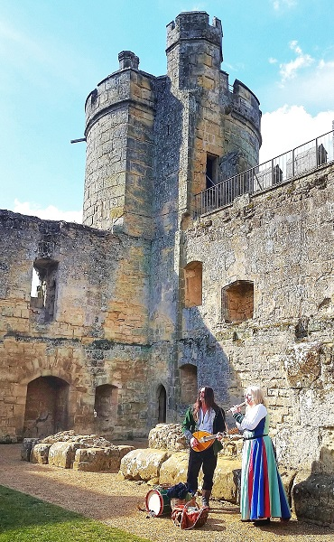 Preformers at the Bodiam Castle East Sussex England History