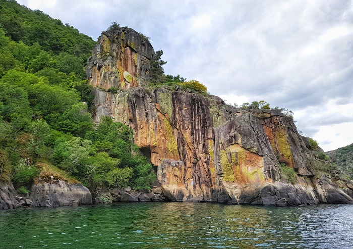 Visiting the Sil River Canyon via boat Galicia Spain Europe
