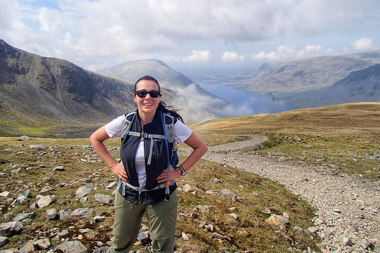 Hiking on Scafell Pike for the three peaks challenge