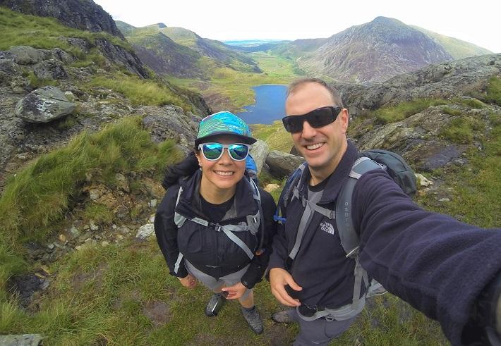 Hiking in Tryfan Snowdon Wales UK