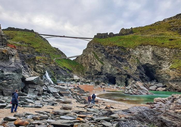Tintagel Haven Beach & Merlin's Cave Cornwall